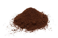 A pile of ground coffee Royalty Free Stock Image