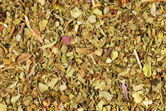 Pile of ground dried Basil ( Royalty Free Stock Photo
