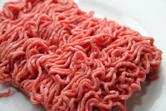 Pile of ground meat Stock Photos