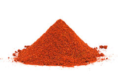 Pile of ground Paprika isolated on white. Stock Image