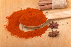 Pile of ground paprika Stock Images