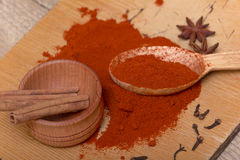 Pile of ground paprika Stock Photography