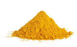 Pile of ground turmeric on white Royalty Free Stock Photos