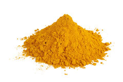 Pile of ground turmeric Stock Images