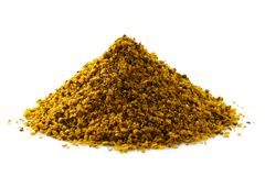 A pile of ground vindaye spice mix. royalty free stock photo