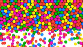 Multicolored spheres fill screen. Multicolored spheres fun abstract transition.