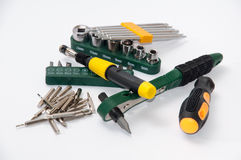 Pile of hand tools and bits Stock Photos