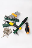 Pile of hand tools and bits Stock Photo