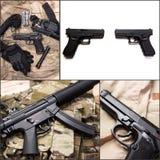 Pile of handguns Stock Photos