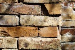 Pile of Handmade Rustic Bricks with Fingerprints royalty free stock images