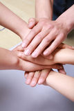 Pile of hands Royalty Free Stock Photos