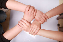 Pile of hands Royalty Free Stock Photo
