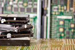 Pile of hard drives Stock Photography