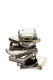 Pile of hard drives Stock Photos