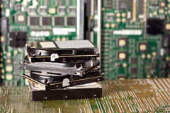 Pile of hard drives Stock Image