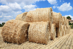 Pile of hay bales Stock Photography