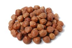 Pile of hazelnuts Stock Photos