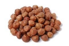 Pile of hazelnuts Stock Photos