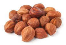 Pile of hazelnuts Stock Image