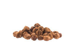 Pile of hazelnuts isolated over the white Royalty Free Stock Photo