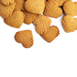 Pile of heart shaped gingerbread cookies Stock Image