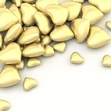 Pile of hearts over a surface Stock Photos