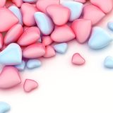 Pile of hearts over a surface Stock Image