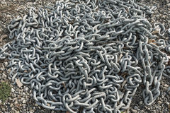 Pile of heavy chain Stock Photos