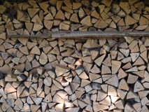 Pile of heavy cut wood logs Stock Photography