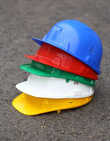 Pile of helmets Royalty Free Stock Photo