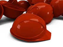 Pile of helmets Royalty Free Stock Images
