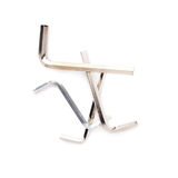 Pile of hex metal allen keys over white isolated background Stock Image