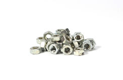 Pile of Hexagon nut Stock Images