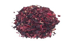 Pile of Hibiscus tea isolated on white Royalty Free Stock Image