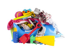 Pile of holiday or vacation summer things Stock Photos