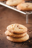 Pile of homemade almond cookies Royalty Free Stock Photography