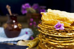 Pile of homemade wafers Royalty Free Stock Photo