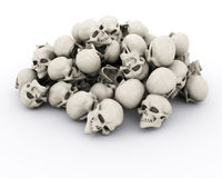 Pile of human skulls Royalty Free Stock Image
