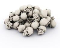 Pile of human skulls. 3d render of a pile of human skulls Royalty Free Stock Image