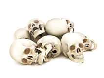 Pile of Human skulls Stock Photography