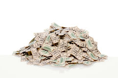 Pile of hundred dollar bills Stock Image