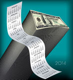 Pile of hundred Dollar bills Stock Photography