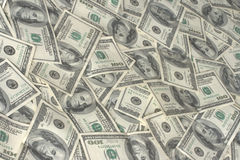Pile of hundred dollars bank n. Otes Royalty Free Stock Photo