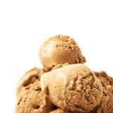 Pile of ice-cream balls isolated Stock Photos