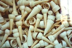 Pile of Ice Cream Cone stock photography