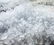 Pile of ice cubes Royalty Free Stock Photography
