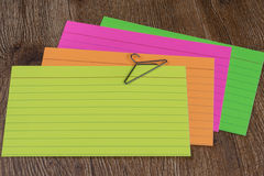 Pile of index cards Stock Photography