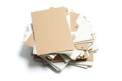 Pile of Index Files stock image