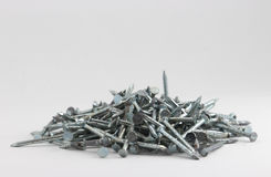 Pile of industrial nails 2 Royalty Free Stock Images