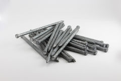 Pile of industrial nails Royalty Free Stock Photography